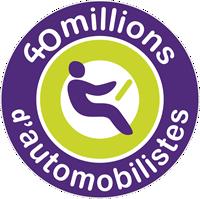 """Logo """"40 millions d'automobilistes"""""""